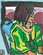 『座っている女性』